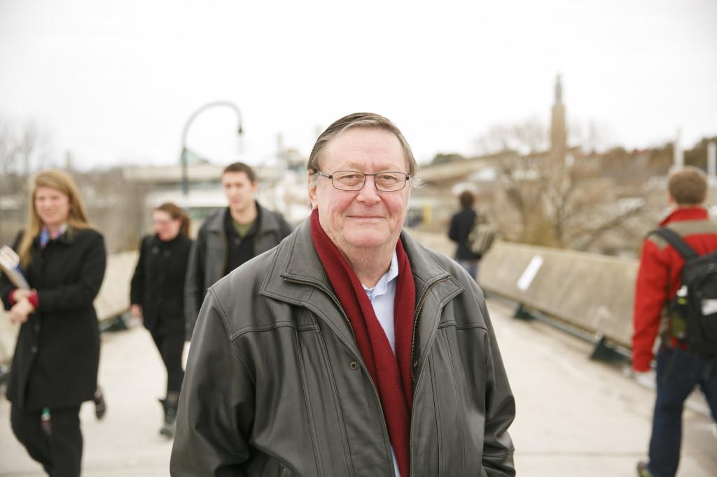 The Reverend W. Glenn Empey, Spiritual Affairs Coordinator & Chaplain at Champlain College, Trent University, Peterborough, Ontario, Canada. March 6, 2013. Photo/Michael Hudson