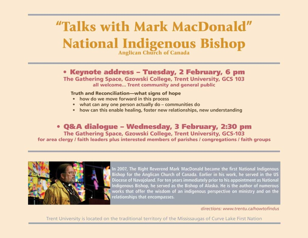 National Indigenous Bishop visits Trent University