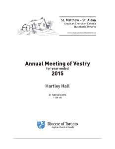 Annual meeting of Vestry … and TRC motion