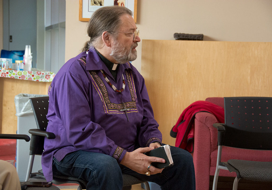 2016 Bp Mark visits Spiritual Affairs Trent U for Truth and Reconciliation